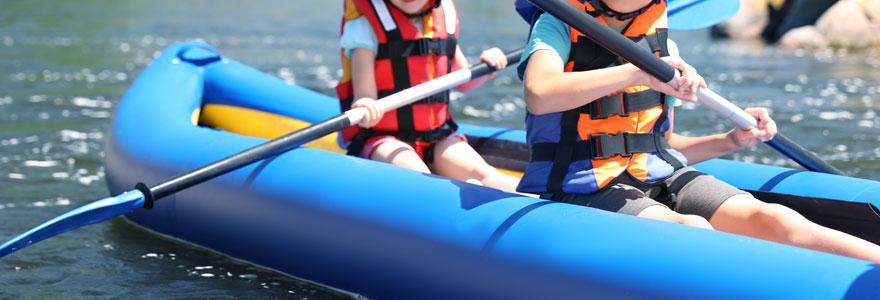 Un paddle gonflable